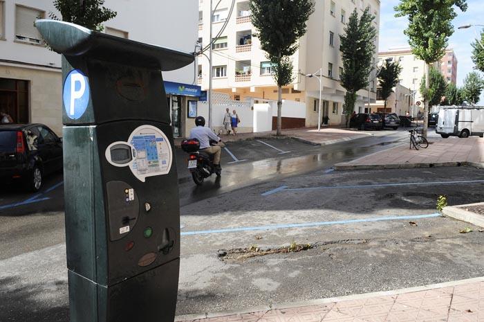 zona azul parkimetros avenida menorca de mao