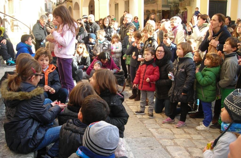 Imagen de archivo de las campanadas infantiles en Ciutadella