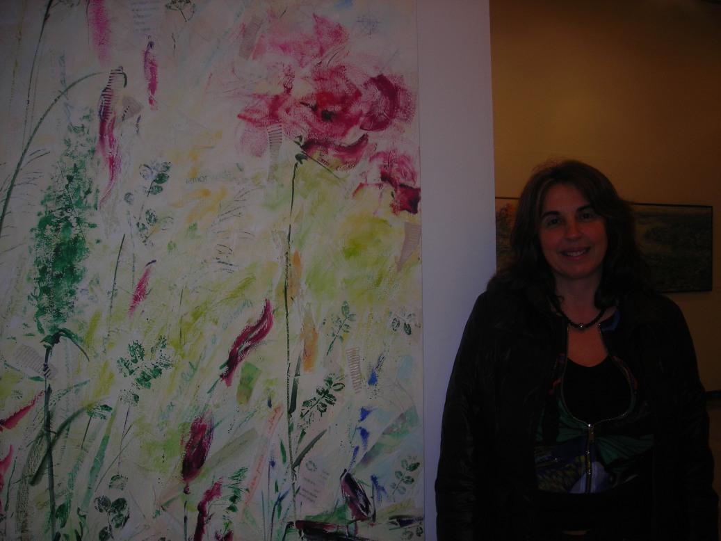 Zulema Bagur junto a una de sus últimas obras.