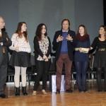 Manuel Solá, Mireia Moll, segunda en el concurso, Roger, Masfurroll, Guayarmina Díez, tercer premio, y Estopiñán, tras la entrega