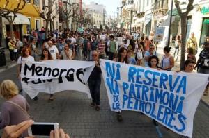 Imagen de una manifestación contra las prospecciones (Foto: Tolo Mercadal)