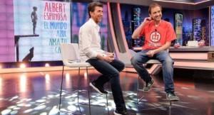 Alberto Espinosa durante la entrevista en 'El Hormiguero'. Foto: Antena 3.