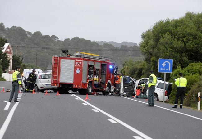 accidente mortal carretera general cruce es migjorn