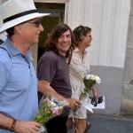 Ponç Pons durante el 'cercavila' por las calles de Sitges. Foto: Sitges Actiu.