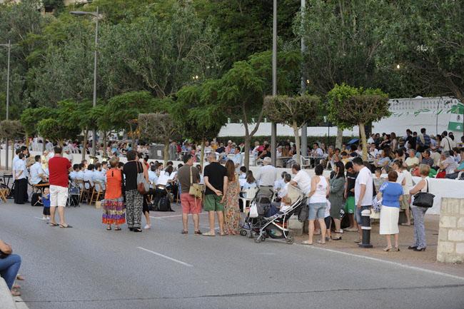 fiesta de sant pere en el puerto de maoconcierto de la banda municipal de musica de  mao