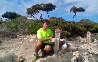 Alfons Piqué quiere recorrer 6.100 km en 132 etapas, unos 45 km diarios. Foto: A.P.M.