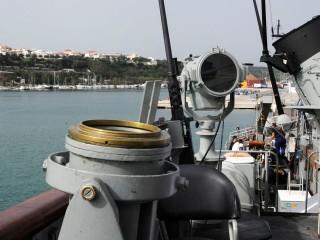 El buque Infanta Cristina atraca en Maó