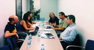 Imagen de la reunión del jurado del Premi Born 2015 en La Seca Espai Brossa de Barcelona. Foto: Cercle Artístic.