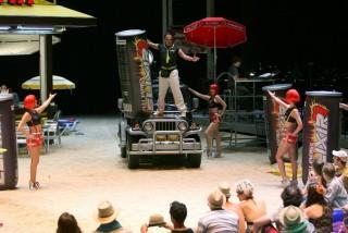 Simón Orfila en un momento de su actuación en La Monnaie con 'L'elisir d'amore'. Foto: La Monnaie.