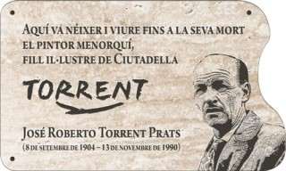 Placa en memoria de Josep R. Torrent.