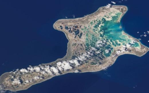 La isla de Kiritimati está en el archipiélago de Kiribati, en el océano Pacífico.