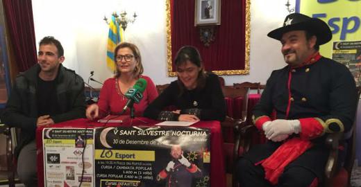 Momento de la presentación de la carrera (Foto: Ajuntament d'Alaior)