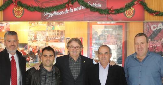 Xec Pons, ayer en la comida de Navidad del Mallorca (Foto: rcdmallorca.es)