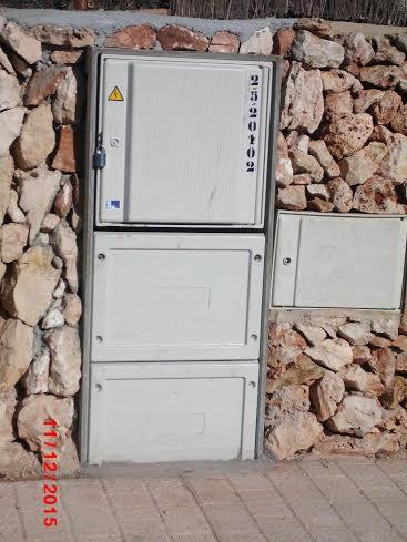 Uno de los armarios sustituidos en la zona de Binibeca.