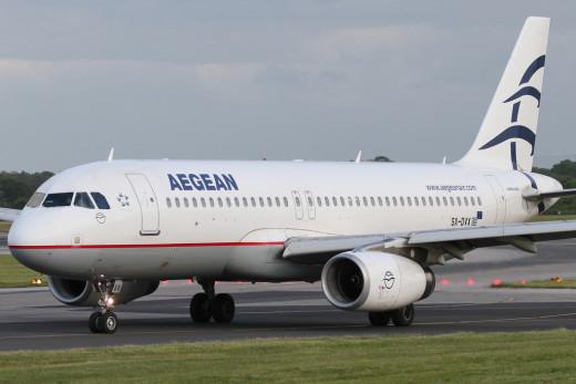 Avión de Aegean Airlines.