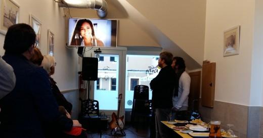 Momento de la presentación del videoclip 'Rosa' de Bep Marquès en Ciutadella.
