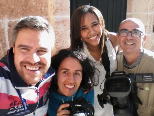 Equipo que ha participado en el videoclip 'Rosa': Bep, Alba, Stefy y Toni. Foto: Bep Marquès.