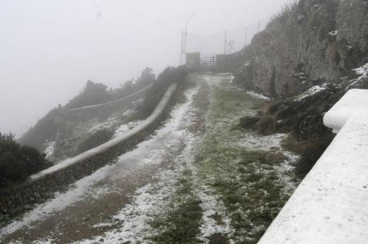 Nieve en Monte Toro (Foto: Tolo Mercadal)