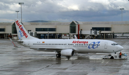 Avión de Air Europa en Son Sant Joan.
