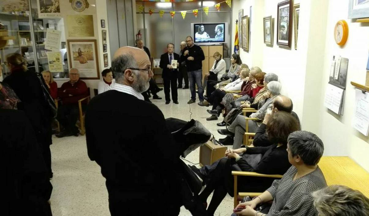 Momento de la presentación del libro 'Cocina señorial de Menorca' a cargo de Bap Al·lès. Foto: Casa de Menorca en Mallorca.