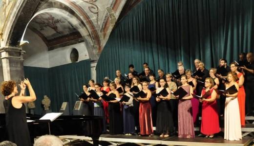 Cantores de la Capella Davídica en el concierto inaugural del Festival de Música d'Estiu de Ciutadella 2015. Foto: Rafa Raga.
