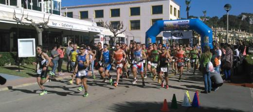 Momento de la salida de los participantes (Fotos: Pere Simón)