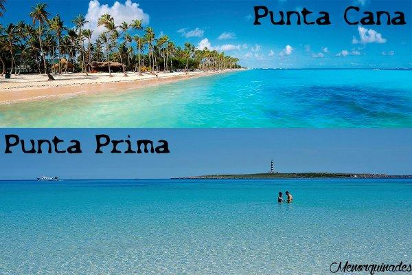 Fotografía que propone la comparación entre las dos playas (Foto: Menorquinades)