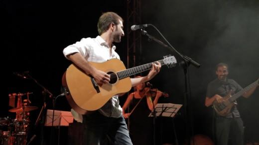 Guiem Soldevila en acción en uno  de sus conciertos.
