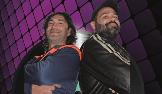 Toni Gomila y Joe Mina en la imagen promocional del 'Vespre de vinils'.