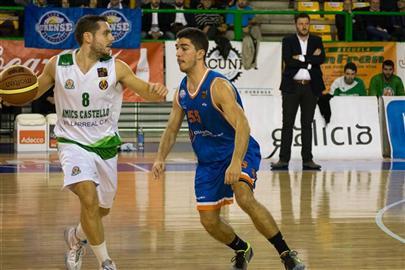 Faner bota el balón en un partido de esta temporada (Fotos: feb.es)