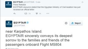 La aerolínea informa en tiempo real.