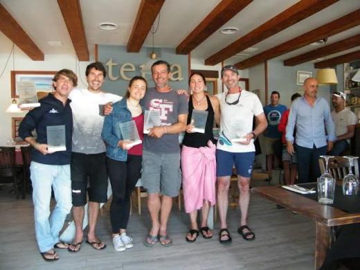 Relación de ganadores en el restaurante Terra.