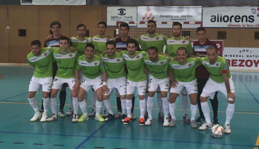 Formación del Palma Futsal que ha jugado en Ciutadella (Fotos: Palma Futsal)