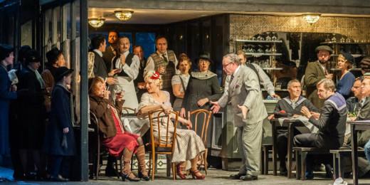Uan escena de la producción de la Ópera de Cincinnati de La Boheme