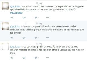Los tweets confirman la indignación de los afectados.