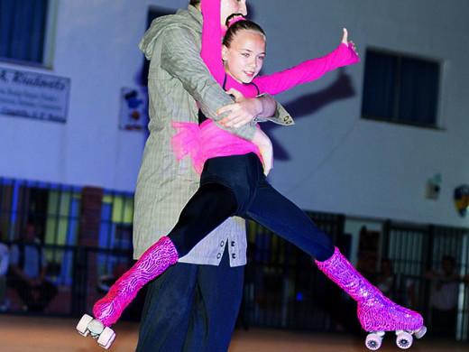 (Fotos) Magia, baile y amor sobre patines