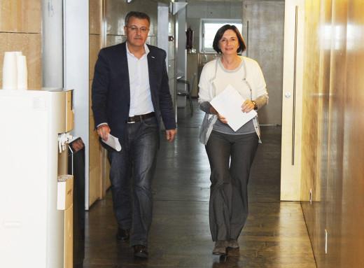 Santiago Tadeo y Maite Salord.