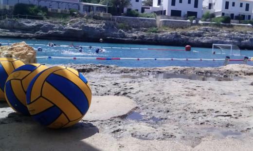Imagen de uno de los partidos de la mañana de beach polo