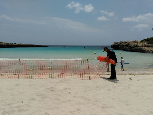 Reabren al baño las playas de Sa Caleta y Cala'n Bosch tras controlarse todas las manchas del vertido