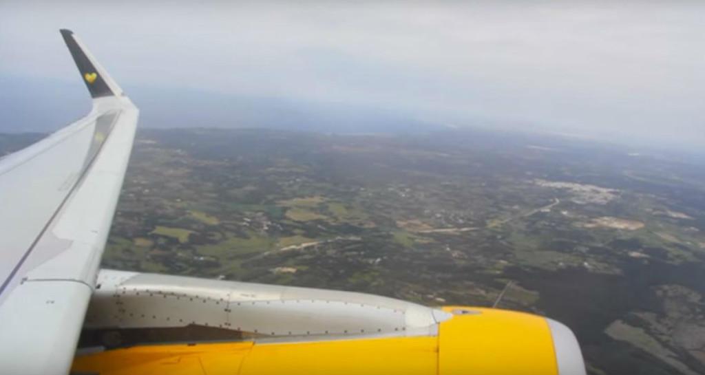 Vista de Menorca desde el Airbus.