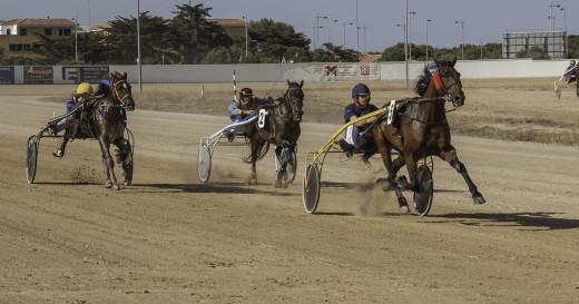 Imagen de la llegada de la primera carrera (Fotos: Carlos Orfila)