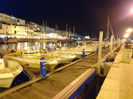 Puerto Ciutadella de noche