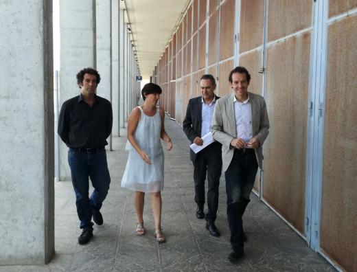 Marc Pons y Joana Gomila durante su visita a Son Blanc.