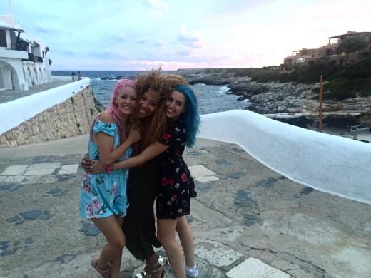 Imagen difundida por Sweet California de su estancia en Menorca.