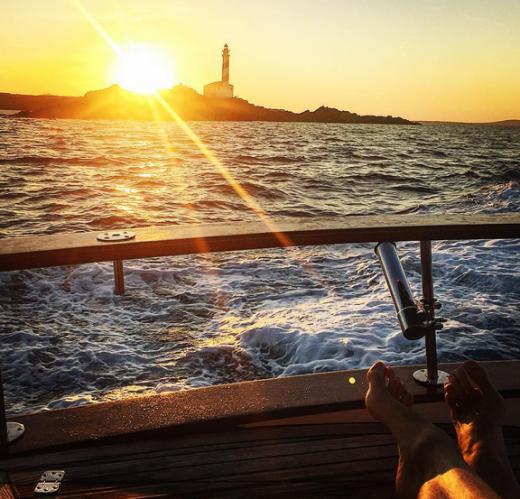 Fotografía en Instagram de Pau Gasol en el Ca de Favàritx.