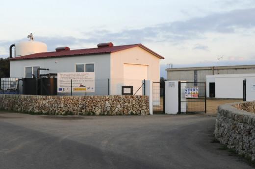 La planta potabilizadora de Es Castell está a punto de empezar a funcionar.