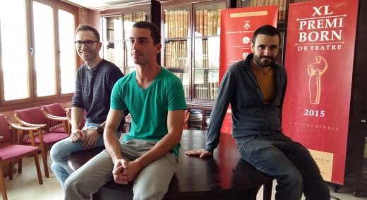 Los tres últimos ganadores del Premi Born: Carles Mallol, Sergio Martínez y Xavier Morató.