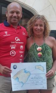 Ortega, con Tita Llorens.