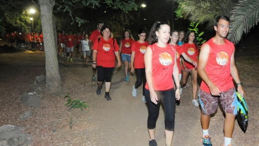 Salida de los participantes que hicieron el circuito a pie (Foto: Tolo Mercadal)