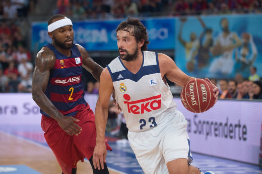 Llull, ante Tyrese Rice.